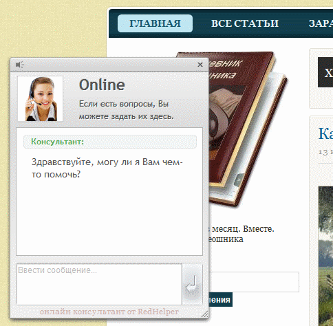 Онлайн консультант для сайта