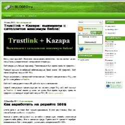 Обзор сайта blogeo.ru